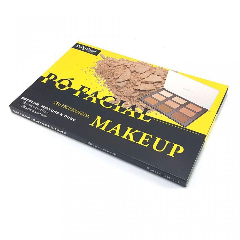 Paleta De Pó Facial Profissional Ruby Rose Hb7208 | Shopee